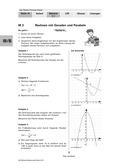 Mathematik_neu, Sekundarstufe I, Funktionen, Quadratische Funktionen, Wurzelfunktion, Lineare Funktionen, Scheitelpunkt, Normalparabel, Schnittpunkte mit der x-Achse, Nullstellen