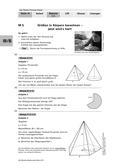 Mathematik_neu, Sekundarstufe I, Größen und Messen, Rauminhalt, Winkel, Flächeninhalt, Rauminhaltsberechnungen, Berechnung von Winkelgrößen, Flächeninhaltsberechnungen, Pyramide, Pyramidenstumpf, Zylinder, Kreiskegel, Kegelstumpf, Kugel, Fünfeck-Pyramide, Oberfläche berechnen, Neigungswinkel, Kreisausschnitt, Mittelpunktswinkel
