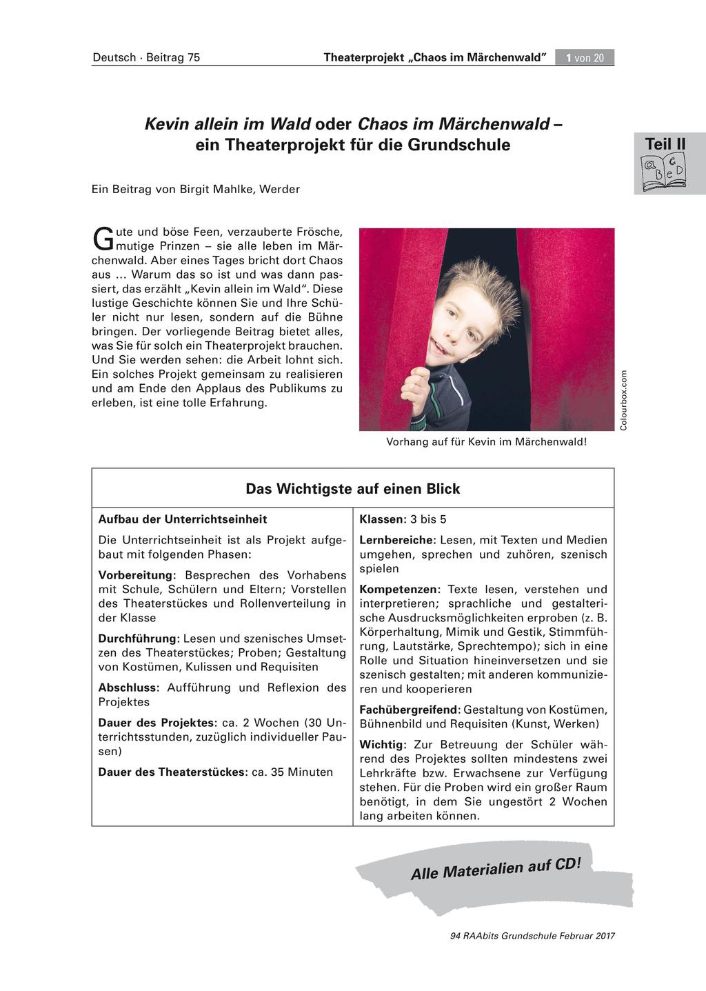 Theaterprojekt: Chaos im Märchenwald Preview 1
