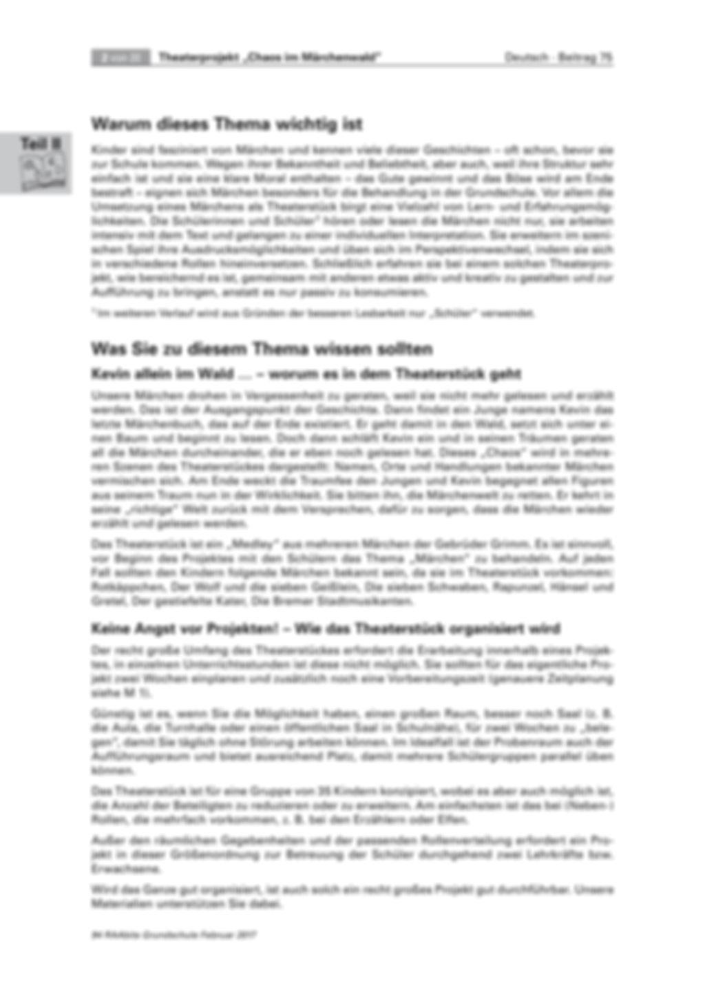 Theaterprojekt: Chaos im Märchenwald Preview 2