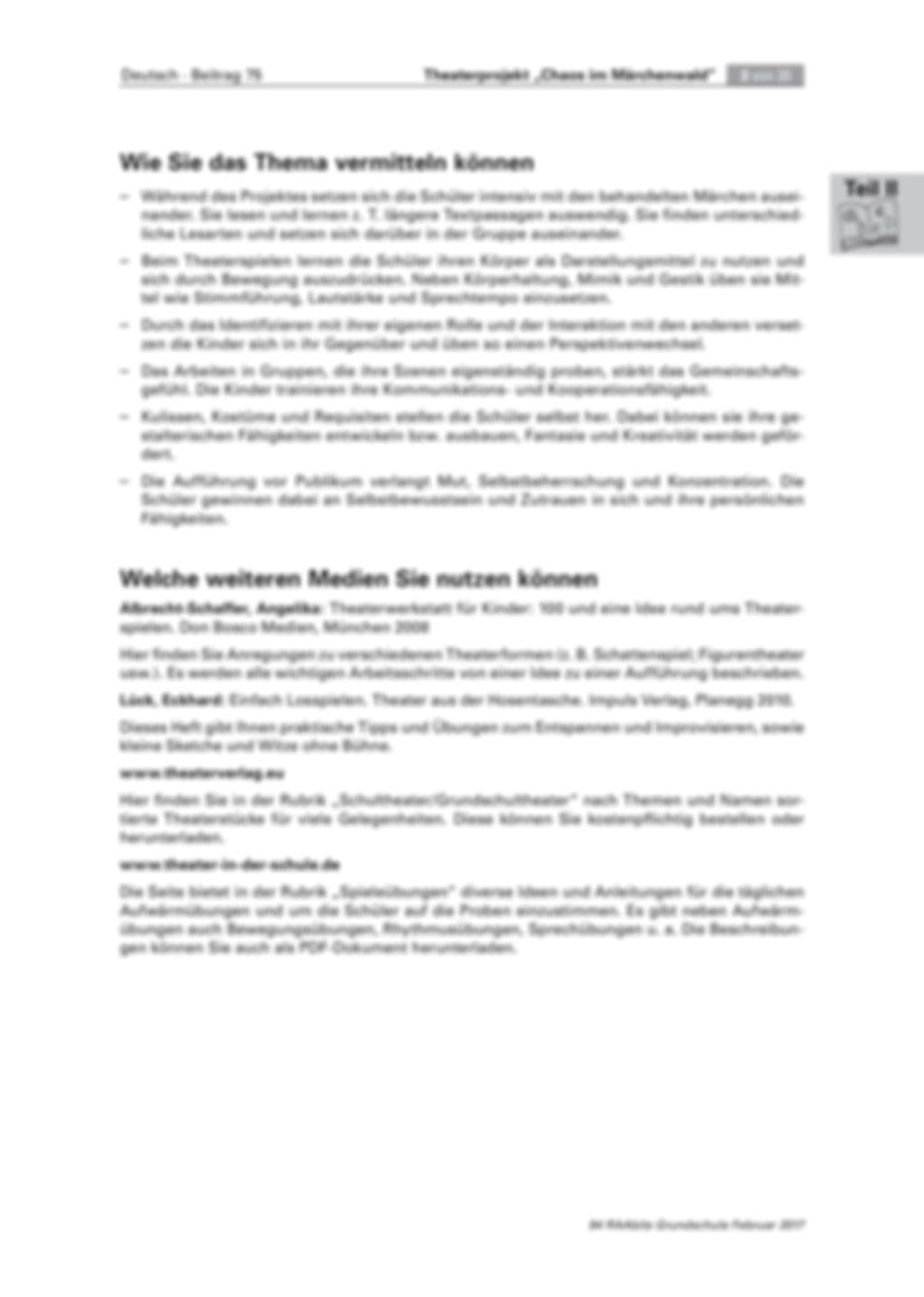 Theaterprojekt: Chaos im Märchenwald Preview 3