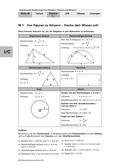 Mathematik_neu, Sekundarstufe I, Raum und Form, Größen und Messen, Geometrie in der Ebene, Flächeninhalt, Ebene Figuren und ihre Eigenschaften, Flächeninhaltsberechnungen, Konstruktionen, Dreiecke, Höhenschnittpunkt, Schwerpunkt, allgemeines Dreieck, rechtwinkliges Dreieck, von Figuren zu Körpern, gleichseitiges Dreieck, Rechteck, Kreis, Körper, Inkreis eines Dreiecks, Umkreis eines Dreiecks, Höhenschnittpunkt eines Dreiecks, Schwerpunkt eines Dreiecks, Ähnlichkeit zweier Dreiecke, Tangens, Kotangens, Gegenkathete, Ankathete, Seitenhalbierende, Geometrie erleben, Dreieck im Kreisring