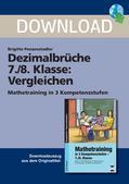 Mathematik_neu, Sekundarstufe I, Zahl, Rationale Zahlen, Reelle Zahlen, Bruchschreibweise, Dezimalbrüche, Dezimalzahl, Kleiner, Größer, Gleich, Relation, Vergleich