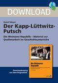 Geschichte_neu, Sekundarstufe I, Neueste Geschichte, Weimarer Republik 1918-1933, Anführer, Reichswehr, Aufstand, Kapp, Attacke, Revolution