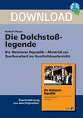Geschichte_neu, Sekundarstufe I, Neueste Geschichte, Weimarer Republik 1918-1933, Hindenburg, Autorität, Kaiser, Heer, Reichspräsident, Propaganda