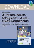 Didaktik-Methodik_neu, Diagnostik, Diagnostik der Schulleistung, Vorwissen und Intelligenz, Lernvoraussetzungen, Gehör, auditive Wahrnehmung, auditive Reize