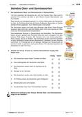 """Deutsch als Zweitsprache, Lernfeld """"Miteinander leben"""", Lernfeld """"Was mir wichtig ist"""", Lernfeld """"Ich und du"""", Kerninhalte, Grundkurs, Aufbaukurs, Speisen kennen lernen, Konsumartikel bewerten und vergleichen, Vorlieben und Abneigungen äußern, Wortschatz Lebensmittel und Getränke, Unterrichtsreihe Lebensmittel, Geschirr und Besteck, Pluralformen der Substantive, unbestimmer Artikel, Nullartikel, Verneinung, Akkusativ, Geschmacksrichtungen, Vorlieben äußern, Mengenangaben, Verpackungen, Rezepte lesen und verstehen"""
