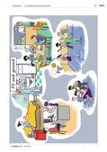 """Deutsch als Zweitsprache, Lernfeld """"Miteinander leben"""", Lernfeld """"Was mir wichtig ist"""", Kerninhalte, Grundkurs, Aufbaukurs, Speisen kennen lernen, Tagesabläufe und Lebensgewohnheiten vergleichen, Von Tätigkeiten in der Freizeit erzählen, Unterrichtseinheit Körperpflege, Unterrichtsmaterialien Gesundheit, reflexive Verben konjugieren, Modalverb sollen, Nebensätze mit weil, Schönheitspflege, Wimmelbild Fit und gesund"""
