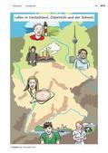 """Deutsch als Zweitsprache, Lernfeld """"Ich und du"""", Lernfeld """"Miteinander leben"""", Lernfeld """"Was mir wichtig ist"""", Kerninhalte, Grundkurs, Aufbaukurs, Sich begrüßen und verabschieden, Sich bekannt machen, Voneinander etwas erfahren, Für andere Länder Interessen wecken, Tagesabläufe und Lebensgewohnheiten vergleichen, Über unterschiedliche Lebenssituationen sprechen, Unterrichtsreihe Landeskunde, Leben in Deutschland, Österreich und der Schweiz, Wimmelbild Landeskunde, Stadt und Land, Dialog Bäckerei, Moin, Grüß Gott, Grüezi, Regionalismen"""