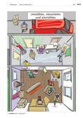 """Deutsch als Zweitsprache, Lernfeld """"Sich orientieren"""", Lernfeld """"Miteinander leben"""", Lernfeld """"Was mir wichtig ist"""", Kerninhalte, Grundkurs, Aufbaukurs, Um Auskunft bitten, Auskunft erteilen, Wissenswertes aus Medien entnehmen, Sich in Printmedien und elektronischen Medien orientieren, Über das Wohnen sprechen, Über unterschiedliche Lebenssituationen sprechen, Unterrichtsreihe unser neues Zuhause, eine Wohnung suchen, renovieren und einrichten, Wortfeld umziehen renovieren einrichten, Vokabular Umzug, Zimmer und Einrichtung, Wohnnungssuche, zur Miete wohnen, Mietwohnung, Werkzeuge und Renovierung, im Baumarkt"""