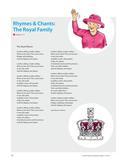 Englisch_neu, Primarstufe, Mündliche Produktion und Rezeption, Rezeption mündlicher Texte, Produktion mündlicher Texte, Hör-/Hörsehtexte verstehen, Zusammenhängendes Sprechen, Reime, Lieder, Raps, Mit- und Nachsprechen von Texten, The Royal Rhyme, The Royal Family Rap
