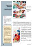 Kunst_neu, Sekundarstufe I, Flächiges Gestalten, Malen, Malen, Marmoriert, Grußkarte, Technik, Schrift