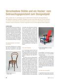 Kunst_neu, Sekundarstufe I, Medien, Auseinandersetzung mit Medien, Kommunikationsdesign, Design, Geschichte, Stuhl, Entwicklung, Designobjekt, Gebrauchsgegenstand, Form, Fertigung