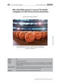 Mathematik_neu, Sekundarstufe I, Zahl, Größen und Messen, Rechenoperationen, Flächeninhalt, Rauminhalt, Zusammenhang zwischen Rechenoperationen, Flächeninhaltsberechnungen, Rauminhaltsberechnungen, Fußball, Fermi, Volumen, Flächeninhalt, Größen