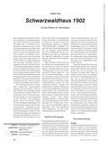 Geschichte_neu, Sekundarstufe I, Grundlagen, Neuzeit, Historische Überlieferung, Industrialisierung, Arbeits- und Lebensbedingungen, Schwarzwaldhaus, 1902, Living History