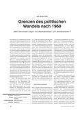 Geschichte_neu, Sekundarstufe II, Friedenspolitik, Gewaltfreie Lösungsstrategien, Politik der Entspannung, Willy Brandt, 1969, Regierungserklärung, Demokratieverständnis