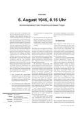 Geschichte_neu, Sekundarstufe II, Friedenspolitik, Ursachen und Merkmale von Kriegen, Zweiter Weltkrieg 1939-1945, Hiroshima, Atombombe, Augenzeuge, Atombombenangriff, Comic, Pilot