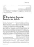 Chemie_neu, Sekundarstufe I, Sekundarstufe II, Atombau, Grundlagen der Materie, Periodensystem der Elemente, Begriffsbestimmung, Chemische Elemente und Isotope, Elementbegriff, Gewinnung, Herstellung, Produkte, Verfügbarkeit, Kiritkalitäts-Matrix