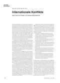 Politik_neu, Sekundarstufe II, Internationale Beziehungen, Frieden und Sicherheit, Konfliktmerkmale, Internationale Konflikte, ökonomische Perspektive auf internationale Konflikte, internationale Konflikte im Alltag, Konfliktthemen, Themen für den Politik- und Wirtschaftsunterricht