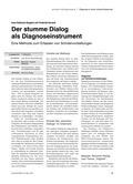 Der stumme Dialog als Diagnoseinstrument - Eine Methode zum Erfassen von Schülervorstellungen