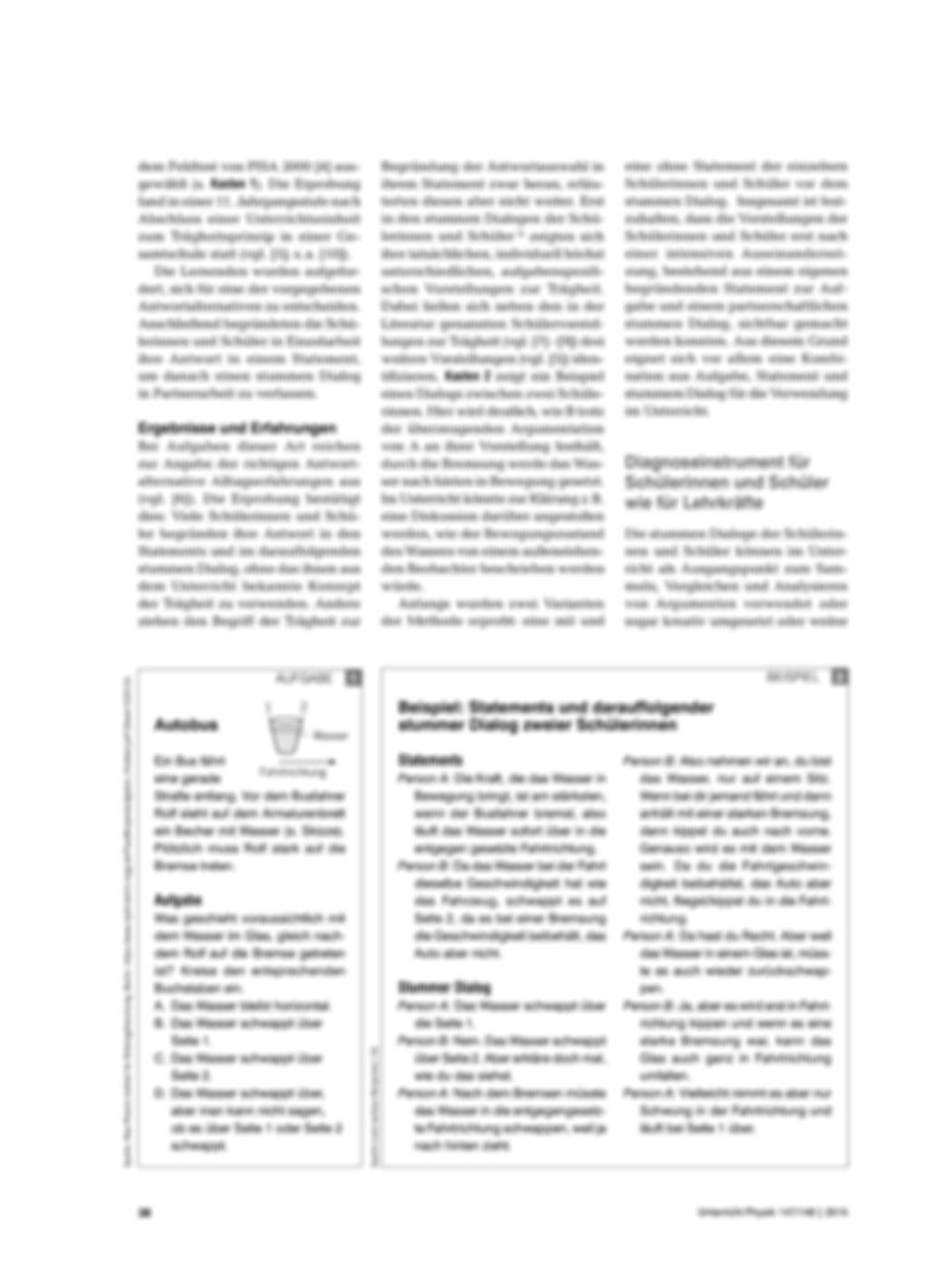 Der stumme Dialog als Diagnoseinstrument - Eine Methode zum Erfassen von Schülervorstellungen Preview 2