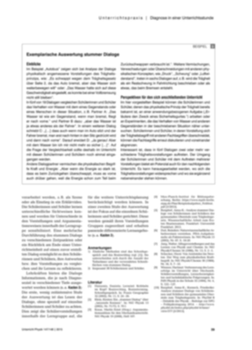 Der stumme Dialog als Diagnoseinstrument - Eine Methode zum Erfassen von Schülervorstellungen Preview 3