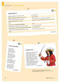 Englisch_neu, Primarstufe, Mündliche Produktion und Rezeption, Rezeption mündlicher Texte, Produktion mündlicher Texte, Hör-/Hörsehtexte verstehen, Zusammenhängendes Sprechen, Reime, Lieder, Raps, Mit- und Nachsprechen von Texten, What pirates do, The clever pirate, Captain Hook, I am a pirate, The chaos crew