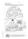 Englisch_neu, Primarstufe, Mündliche Produktion und Rezeption, Verfügung über sprachliche Mittel, Rezeption mündlicher Texte, Produktion mündlicher Texte, Wortschatz, Hör-/Hörsehtexte verstehen, Zusammenhängendes Sprechen, Themenspezifischer Wortschatz, Beschreibungen, Mit- und Nachsprechen von Texten, Erzählen, Piratenlied, Reflexionbogen, Individueller Lernfortschritt