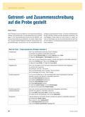 Deutsch_neu, Sekundarstufe I, Richtig Schreiben, Getrennt- und Zusammenschreibung, Rechtschreibung, Regeln, Grammatik, Relationsprinzip