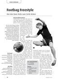 Sport_neu, Sekundarstufe II, Spielen, Zusammenspiel in Gruppen, Alternative Spielformen, Footbag, Basic Kicks, Circle, Kickphase, Tretbewegung