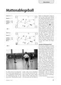 Sport_neu, Sekundarstufe I, Sekundarstufe II, Spielen, Zusammenspiel in Gruppen, Mattenablegeball, Laufweg, Passweg, Grundlinie, Mannschaften
