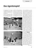 Sport_neu, Sekundarstufe I, Sekundarstufe II, Spielen, Zusammenspiel in Gruppen, Agentenspiel, Körpereinsatz, Ballbesitz, Gegenspieler