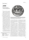 Geschichte_neu, Sekundarstufe I, Antike, Rom und das Imperium Romanum, Rom, Antike, Imperium, Kaiser, Tochter, Augustus, Münzen, Botschaft, Schicksal