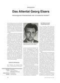 Geschichte_neu, Sekundarstufe II, Politik zwischen Demokratie und Diktatur, Nationalsozialismus, Wiederstand, Attentat, Widerstand, Meinung, Georg Elser, Bürgerbräu-Attentat
