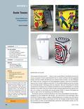 Kunst_neu, Sekundarstufe I, Körperhaft-räumliches Gestalten, Flächiges Gestalten, Plastik, Skulptur und Objekt, Malen, Farbe als Gestaltungsmittel, Farbe, Vorlage, Vergrößern, Idee, Skizze, Wirkung, Mülltonne, Motiv