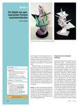 Kunst_neu, Sekundarstufe I, Körperhaft-räumliches Gestalten, Architektur, Plastik, Skulptur und Objekt, Konstruktive Elemente und Prinzipien, Pappe, Form, Plastik, Gebilde, Cutter, Skizze, Farbe, geometrische Form
