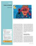 Kunst_neu, Sekundarstufe I, Flächiges Gestalten, Malen, Farbkontraste, Warm-Kalt-Kontrast, Farbton, Temperatur, Kontrast, Warm-Kalt, Farbfamilie, Hintergrund, Umriss, Wasserfarbe, Deckfarbe