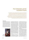 Kunst_neu, Sekundarstufe I, Kunstbegegnung und -betrachtung, Bildanalyse und -interpretation, Picasso, Lichtenstein, Femme au Chapeau, Kubismus, Konsum, Farbe