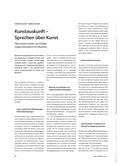 Kunst_neu, Sekundarstufe II, Kunstbegegnung und -betrachtung, Museum, Kommunikation, Bildung, Nachbereitung, Vorbereitung, Methode