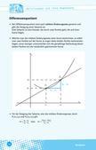 Mathematik_neu, Sekundarstufe II, Funktionen, Ableitung, Kurvendiskussion, Regeln, Stetigkeit und Differenzierbarkeit, Differenzenquotient, Ableitungsfunktion, Berechnung von Ableitungen, Definitionsbereich, Nullstellen, Achsenschnittpunkte, Symmetrie, Extremstellen, Wendestellen, Monotonie, Tangente – Normale, Asymptoten, Summen- und Faktorenregel, Produktregel, Kettenregel, Potenzregel, Newton'sches Näherungsverfahren, Prüfungsvorbereitung, Fachbegriffe, Analysis