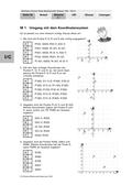 Mathematik_neu, Sekundarstufe I, Raum und Form, Zahl, Größen und Messen, Funktionen, Daten und Zufall, Stochastik, Grundlagen, Zufall, Lineare Funktionen, Ziele und Kompetenzen, Begriffe, Fachdidaktische Hinweise, Fachwissenschaftliche Hinweise, x-Achse, y-Achse, E-Learning, ankreuzen, Ratewahrscheinlichkeit, Objektivität