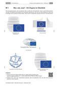 Politik_neu, Sekundarstufe II, Europäische Union, Institutionen, Europäischer Rat, Europäische Kommission, Europäisches Parlament, Europäischer Gerichtshof, Brüssel, Straßburg, Verwaltungssitz, EuGH, Gesetzgebungsprozess, supranationale Ebene, Gremium, Gesetzesvorschläge, EU-Staaten, Richter, Kommissare, Parlamentspräsident, Eurobarometer, Jean-Claude Juncker, Federica Mogherini