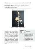 Kunst_neu, Sekundarstufe I, Flächiges Gestalten, Zeichnen, Ordnungsprinzipien, Bilden einer Figur, Geometrie, Figur, Körper, Abstrakt, Oskar Schlemmer, Anleitung