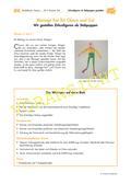 Kunst_neu, Primarstufe, Umwelterfahrung und -gestaltung/ Design, Körperhaft-räumliches Gestalten, Flächiges Gestalten, Gestaltungsprodukte, Artisten, Manege, Clown, Körperteile, Zeitungspapier