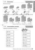 Mathematik_neu, Primarstufe, Zahlen und Operationen, Zahlbeziehungen, Zahlen, Zahlerfassung und Zahldarstellung, Zahlenstrahl, Hundert, 100, Zahlenraum, Darstellung, Legen, Plättchen, Zahlenstrahl