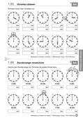 Mathematik_neu, Primarstufe, Größen und Messen, Zeit, Uhr, Minuten, Sekunden, Stunden, Dauer, Zeiger