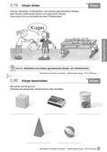 Mathematik_neu, Primarstufe, Raum und Form, Orientierung im Raum, Körper, Gebäude aus zusammengesetzten Körpern, Basteln, Müll, Kugel, Zylinder, Quader, Kegel, Würfel