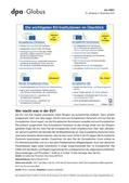Politik_neu, Sekundarstufe II, Sekundarstufe I, Europäische Union, Politische Ordnung, Institutionen, Politische Ordnung auf Europaebene, Europäische Kommission, Institutionen der Europäischen Union, Europäisches Parlament, Europäischer Rat, Infografik, Europäische Union, Parlament, Kommision, Rat, europäische Institutionen, Mitgliedsland, Minister, Gesetzgebungsrecht, Organe