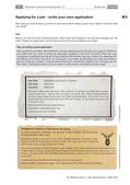 Englisch_neu, Sekundarstufe II, Schreiben, Schreibverfahren, Pragmatisches Schreiben, Formelles Schreiben, Ferienjob