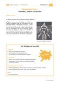 Kunst_neu, Primarstufe, Flächiges Gestalten, Kunstbegegnung und -betrachtung, Zeichnen, Drucken, Fantasie, Puzzlebild, Hochdruck, Styreneplatten, Steckbrief, Farbwalze, Druckplatte